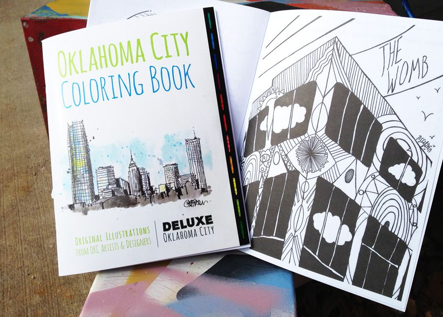 Oklahoma City Coloring Book By Deluxe
