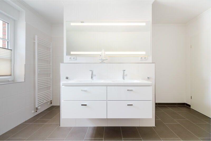 Badezimmer Trennwand Gemauert Mit Doppelwaschtisch Bad Ideen