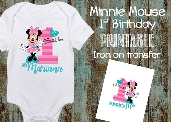 Baby Minnie Gold Birthday Number Top Custom Personalized Birthday Top