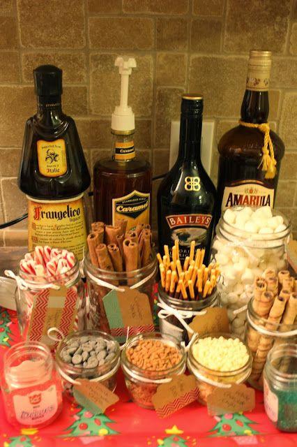 Hot Chocolate Bar with Toppings #hotchocolatebar