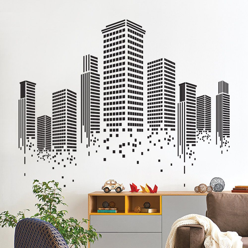Urban Wall Sticker Office Wall Decal Wall Graphics Vinyl Wall Sticker Office Decor Office Wall Decals Music Wall Decal Wall Sticker Design