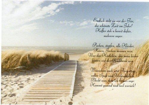Gedicht Auf Transparentpapier Schöne Ferien Schöne Ferien