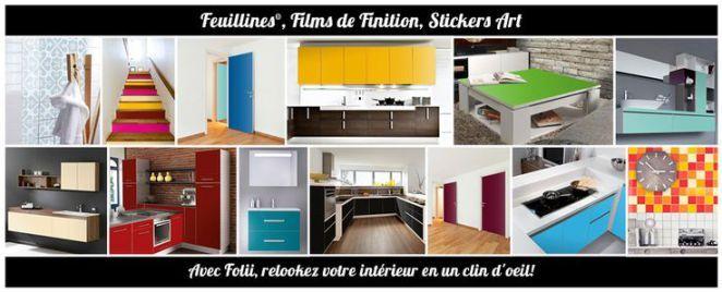 Idée Relooking Cuisine Film Meubles Porte Placard Tiroir Stickers - Stickers meuble de cuisine pour idees de deco de cuisine