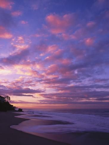 Poster: Diamond's Sunset and the Ocean, CA, 24x18in.