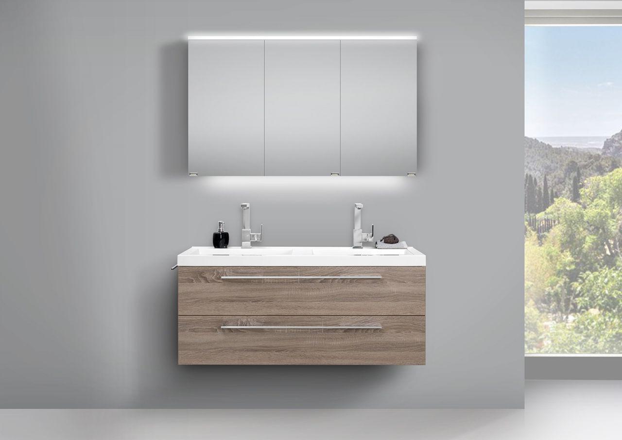 Design Doppelwaschtisch Bad Set Truffel Und Led Spiegelschrank Doppelt Verspiegelt Jetzt Bestellen Unter Https Moebe Bad Set Badezimmer Set Doppelwaschtisch