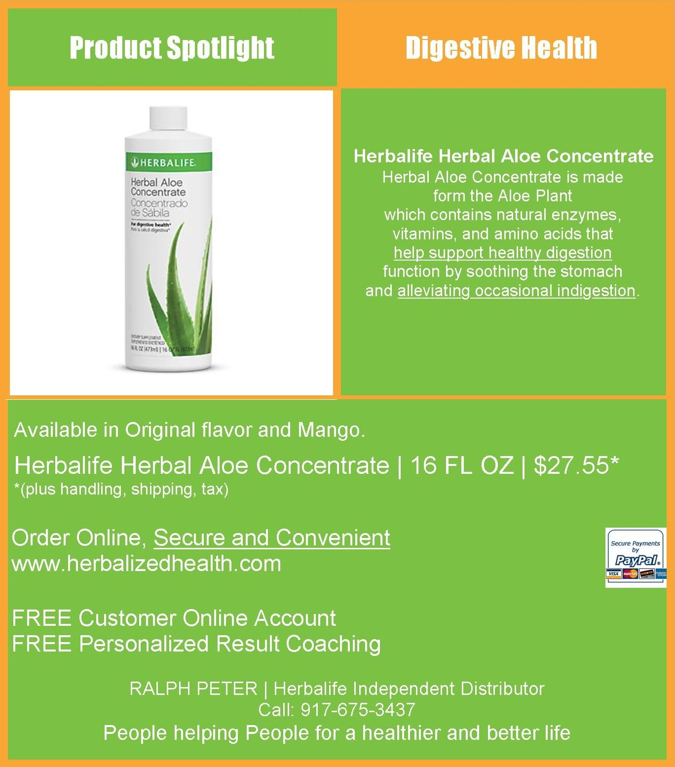 Herbalife Herbal Aloe Concentrate Herbal Aloe Concentrate Is Made Form The Aloe Plant Which Contains Natural E Digestive Health Healthy Digestion Aloe Plant