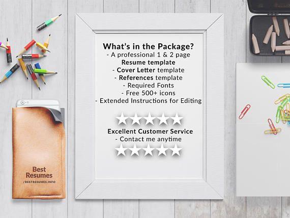 Modern Resume Template, Resume Template Word, Clean Resume Template - pretty resume template