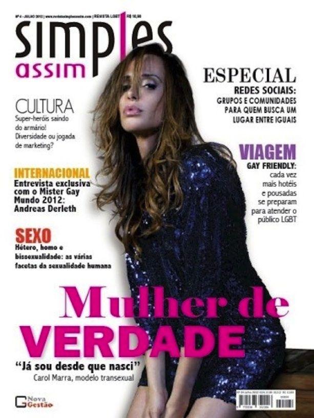 "Carol Marra - Mulher de Verdade [real woman]: ""Já sou desde que nasci"" [I am  (woman) by birth] (Brazil)"