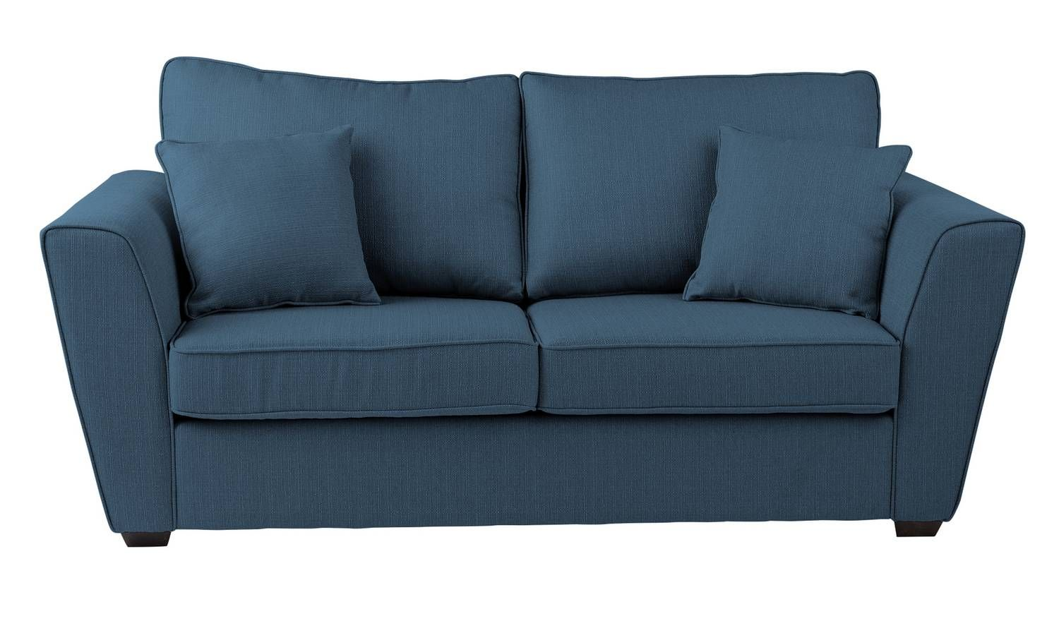 Stupendous Home Renley 2 Seater Fabric Sofa Bed Blue I House In Machost Co Dining Chair Design Ideas Machostcouk