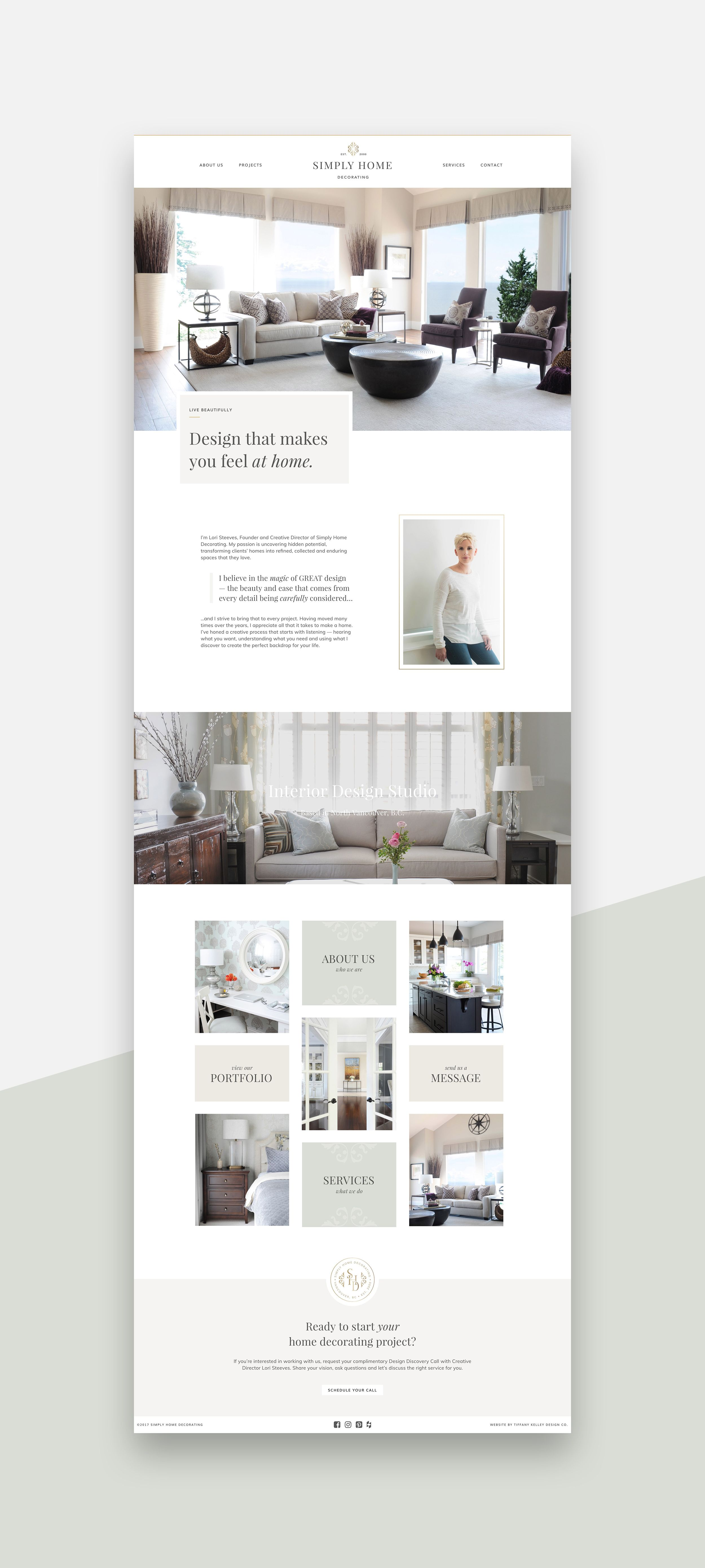 Simply Home Decorating Interior Design Website Web Layout