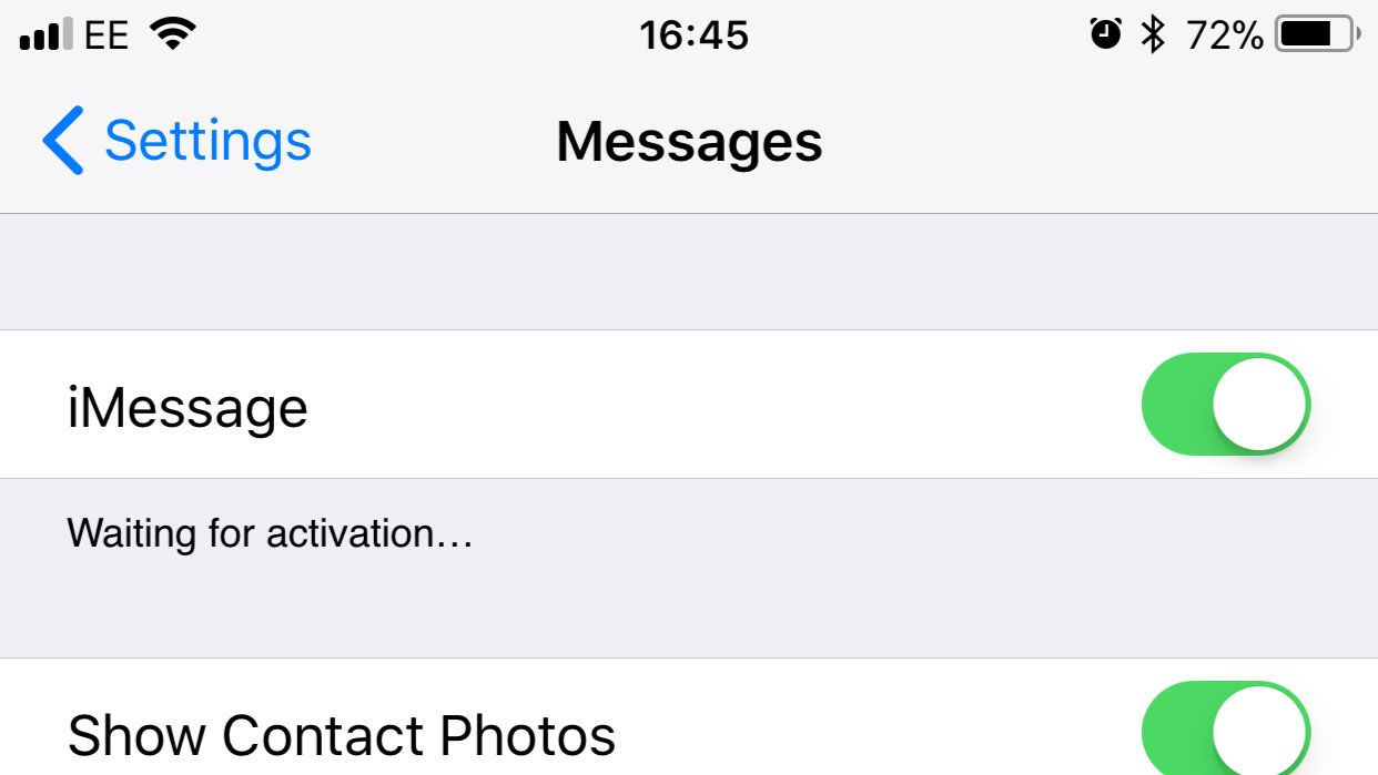 How to fix iphone imessage waiting for activation error