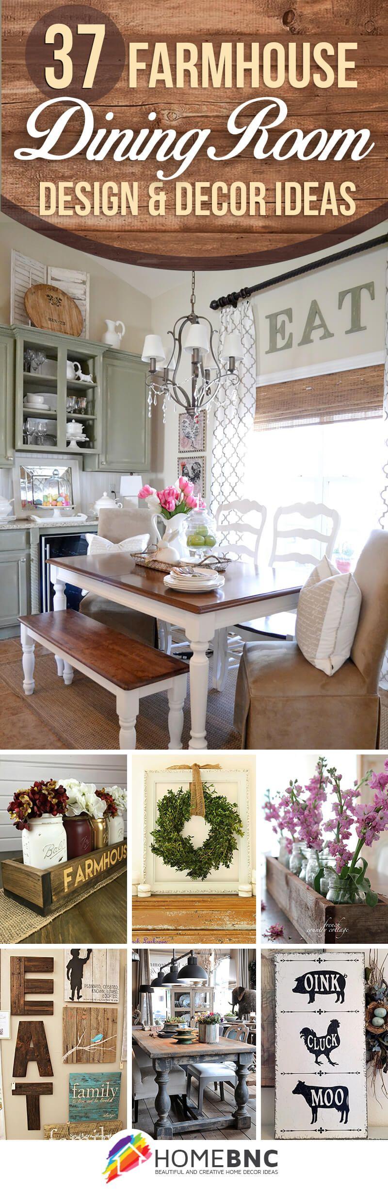Farmhouse dining room decorations hogar decoraciones for Decoraciones rusticas para el hogar
