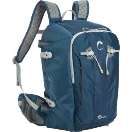 Lowepro LP36503-PWW  Flipside Sport 20L Camera Daypack (Galaxy Blue)  Awesome because you can flip it around while its still on you to access your gear without removing the backpack!