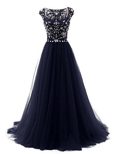 Marryou Women's Beaded Scoop Long Tulle Formal Prom Gown ... https://www.amazon.com/dp/B01H5JUVUW/ref=cm_sw_r_pi_dp_hLOzxb1A3N0PZ