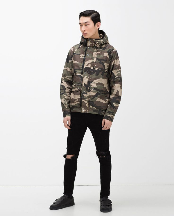 Camouflage winterjacke zara