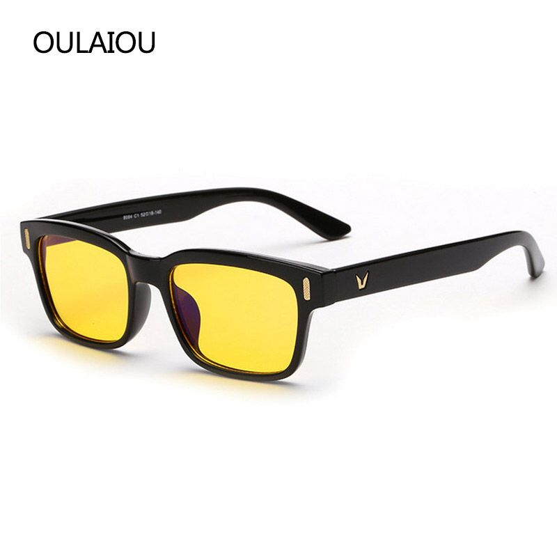 f0eb71c2ad 2017 New V Logo Yellow Lenses Anti-blue Eyeglasses Frames Men Women  Computer Eye Glasses Brand Design Sun Eyewear Eye Glasses