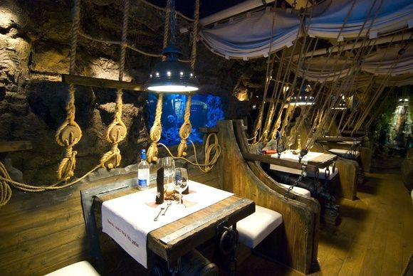 Unique restaurant nuance pirates korsaar