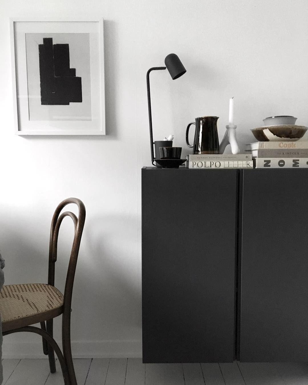 Black painted Ikea 'Ivar' cabinet @49kvadrat