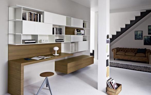bureau et meuble tv Recherche Google idee salotto Pinterest