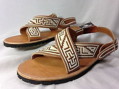 NEW-MENS-LEATHER-MEXICAN -two-strap-ORIGINAL-PITEADO-SANDALS-HUARACHE-ALL-SIZES afe7c00a441ff