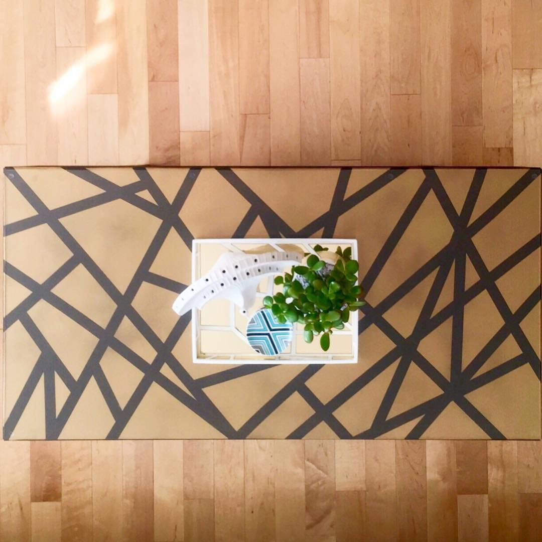 Salvador Camarena On Instagram Details Ikeausa Regissor Coffee Table Diy Ed A Geometric Design Spray Painted In Geometric Design Coffee Table Spray Paint [ 1080 x 1080 Pixel ]