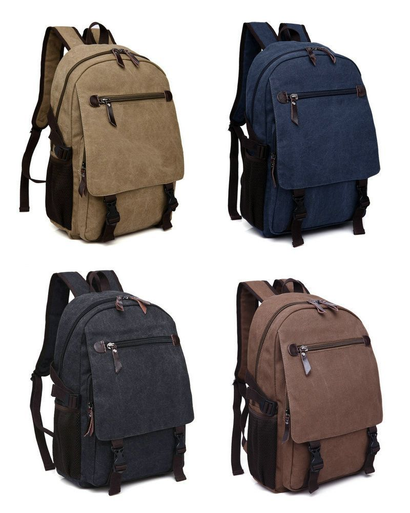 7e541cef6274 Unisex Canvas Backpack Vintage Casual Travel Bag (Free Worldwide Shipping)