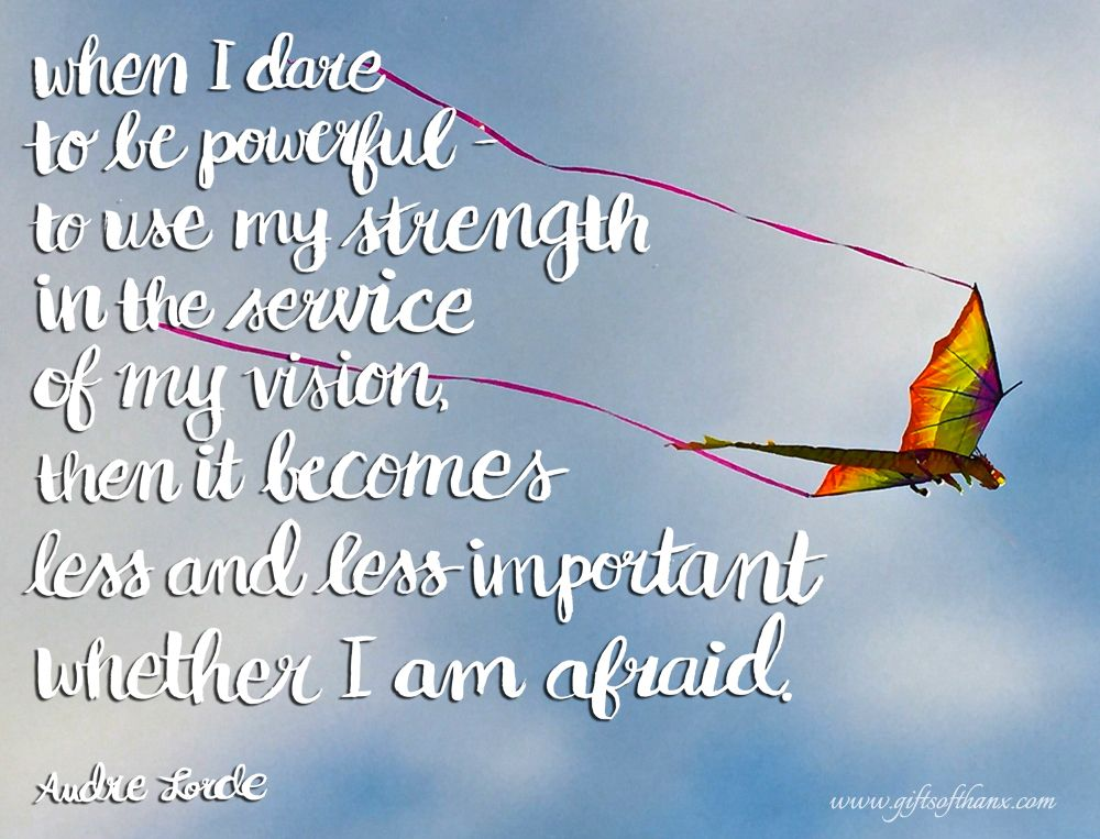 When I dare to be powerful - nik beeson