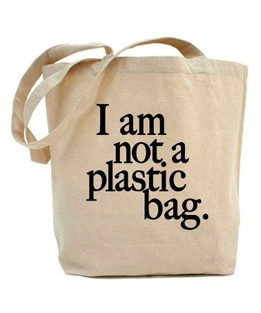 Natural 'Not a Plastic Bag' Tote #zulily #zulilyfinds | misc