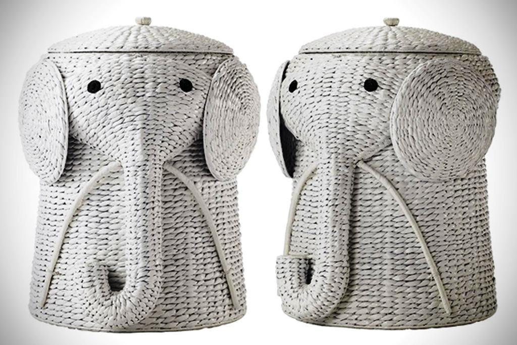 http://www.ireado.com/unique-elephant-whicker-  Wicker HamperWhite ...