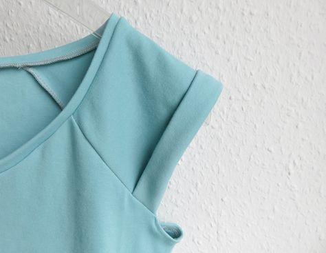 FrauJOSY von Fritzi/Schnittreif - Shirt aus Reststück Baumwolljersey #nosewshirts