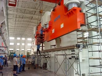 Our Company Biggest Cnc Tandem Press Brake Was Installed 2 We67k 3000 7000 Machine Capacity Is 3000t 7m Each Unit The Machine Is Used To Make Big Steel Colum