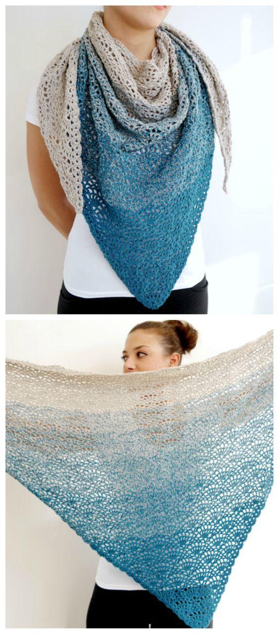 Photo of Einfaches Häkelmuster für einen dreieckigen Schal, Häkeln für Anfänger / einfache …