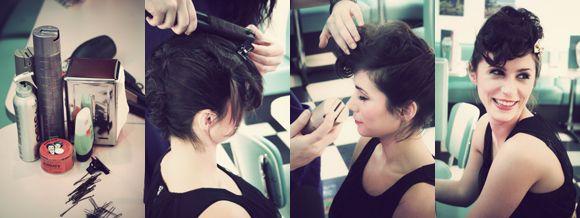 Tuto coiffure : le chignon rockabilly - www.elleadore.com