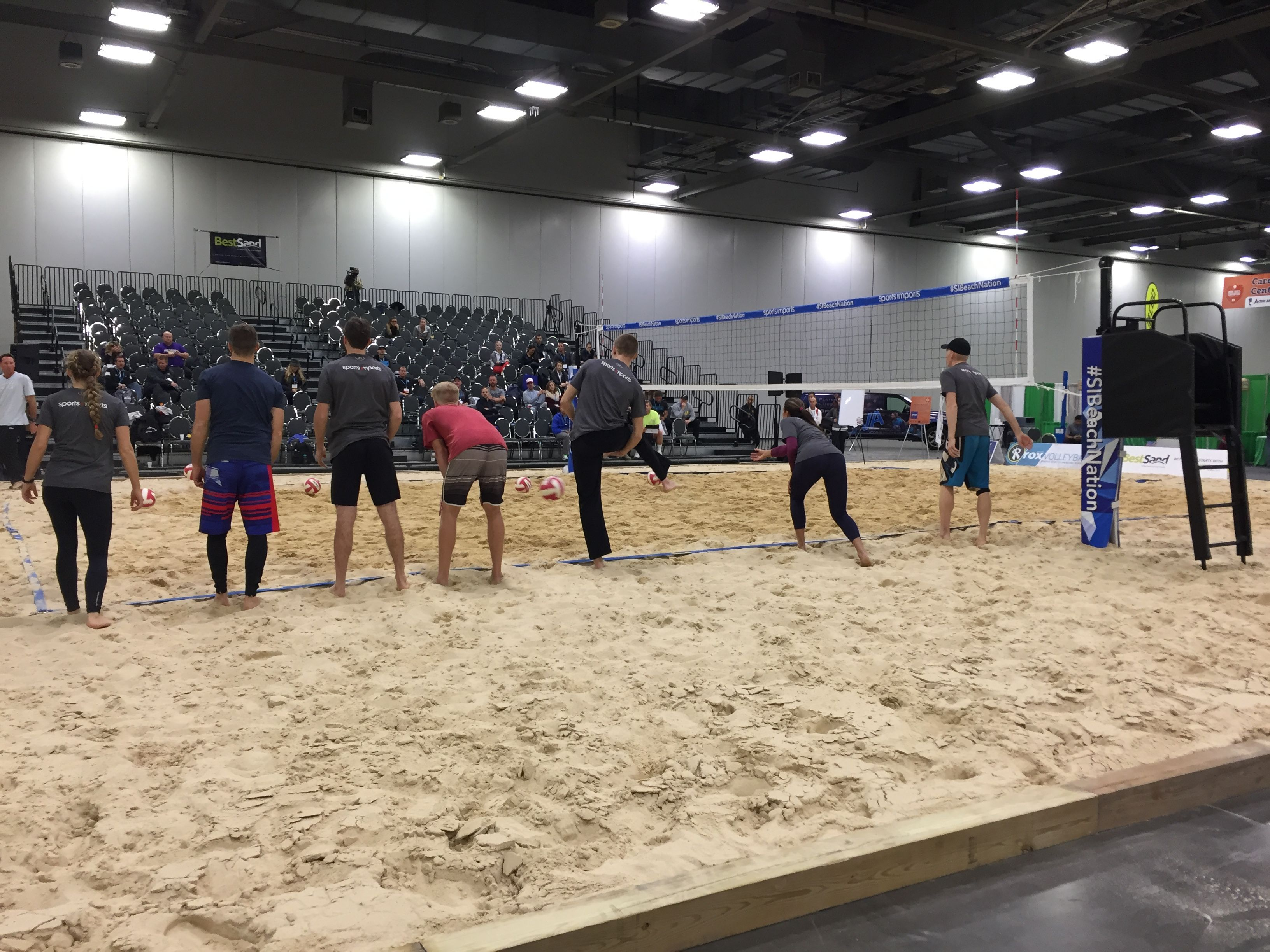 Beach Volleyball Equipment At The Avca Convention In Columbus Ohio Volleyball Equipment Beach Volleyball Volleyball