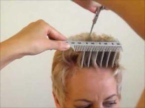 How to Cut Women's Short Hair Layer Haircut - Comb