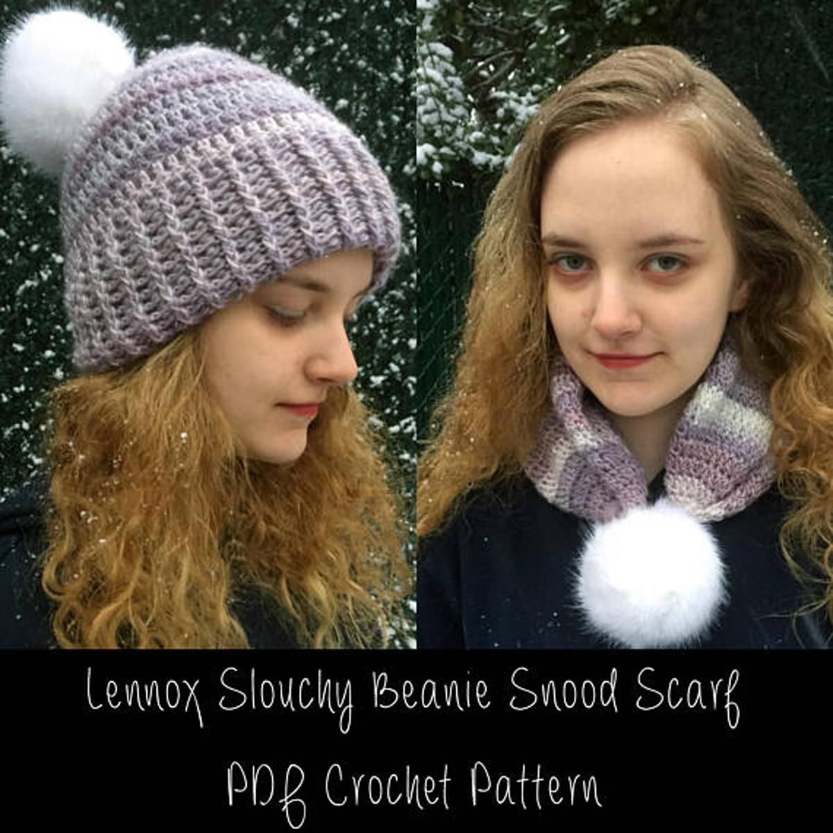 Lennox Slouchy Beanie Hat To Scarf Combo | Slouchy beanie hats ...
