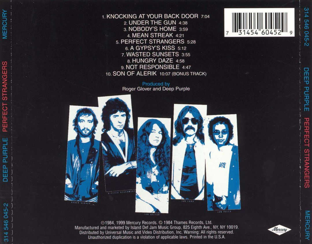 Perfect Strangers   Deep Purple   Songs, Reviews, Credits ...