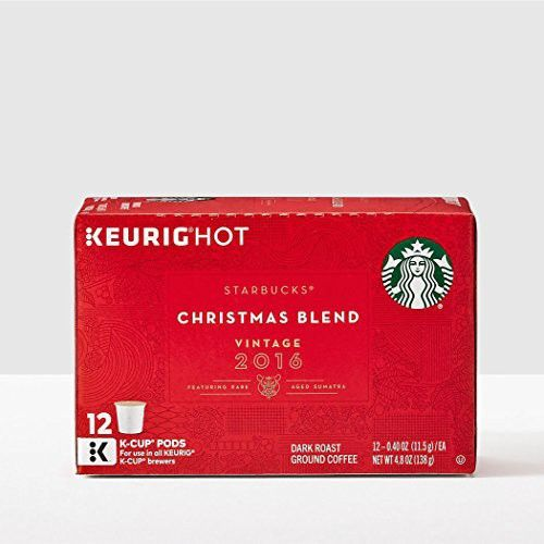 starbucks christmas blend vintage 2016 k cups for keurig coffee machines 12 count pack of 2