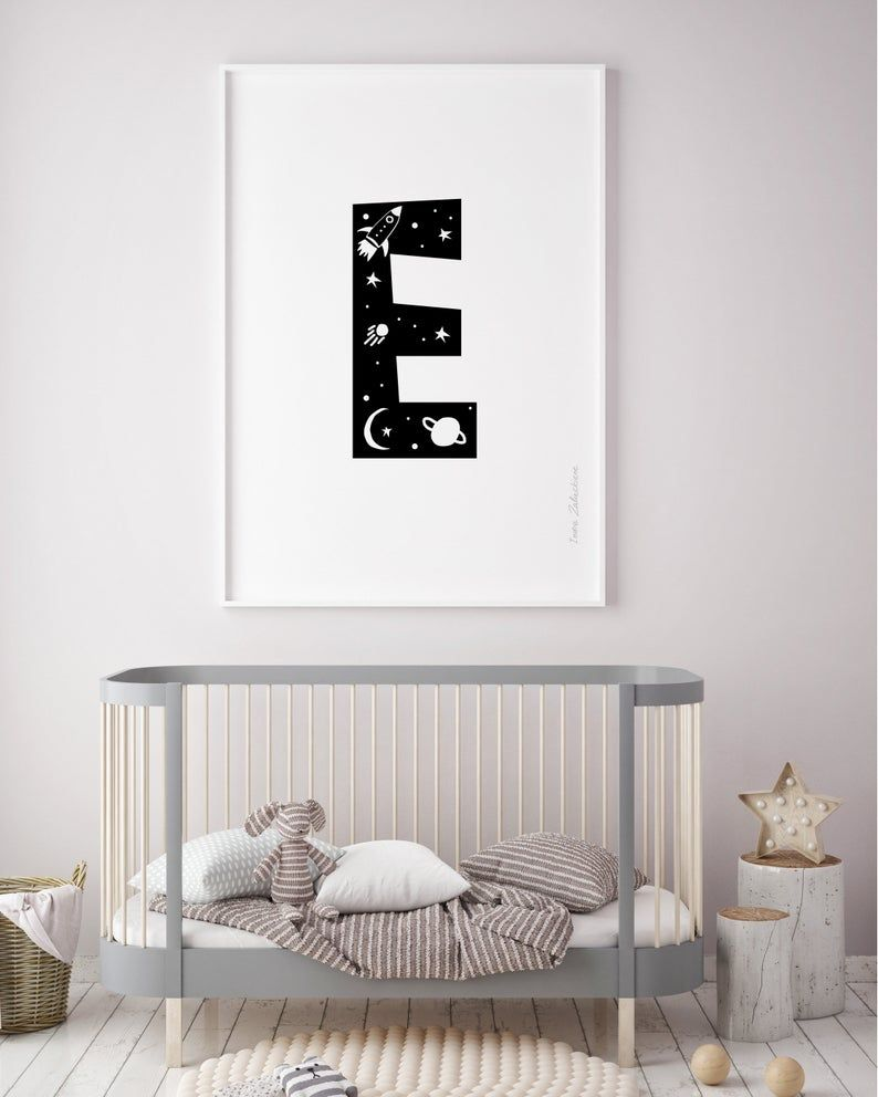 Letter E For Toddler Room Decor