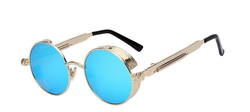 7f60df8f4c Round Metal Sunglasses Steampunk Men Women Fashion Glasses Brand Designer  Retro Vintage Sunglasses UV400