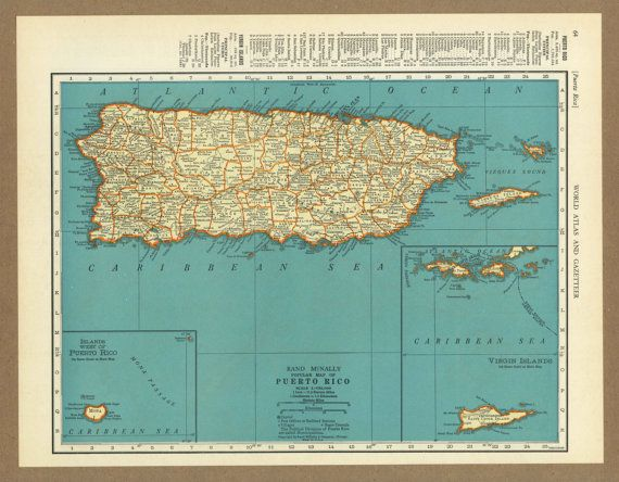 Vintage map of puerto rico from 1936 antique by placesintimemaps vintage map of puerto rico from 1936 antique by placesintimemaps 1400 gumiabroncs Images