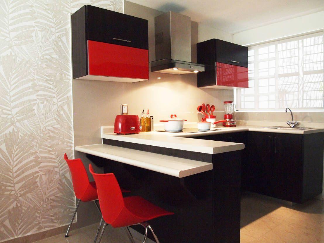 6 truquitos para optimizar el espacio en una cocina - Ideas para cocinas pequenas modernas ...