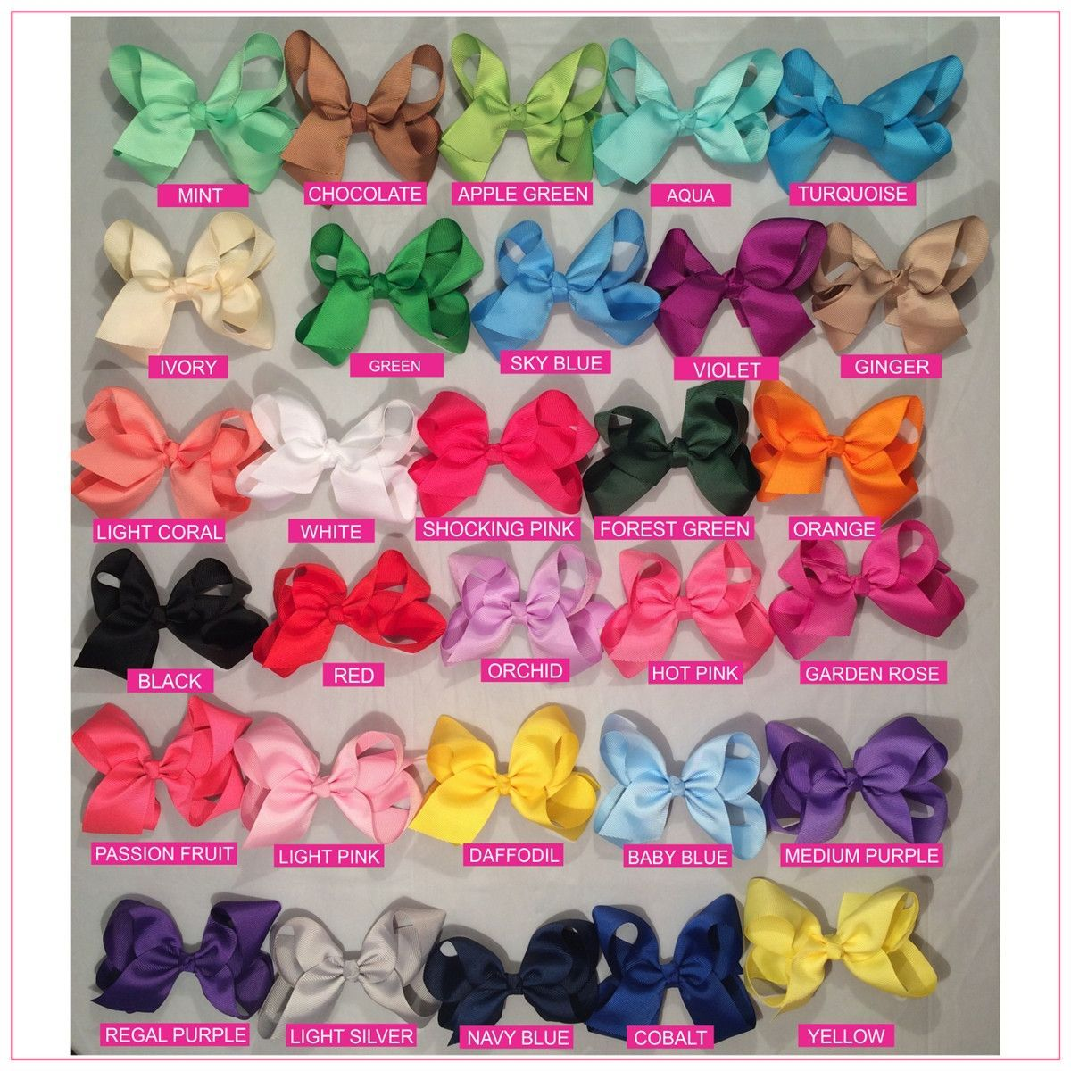 Grape Boutique Style 4 inch Purple Girl Child Toddler Baby Hair Bow