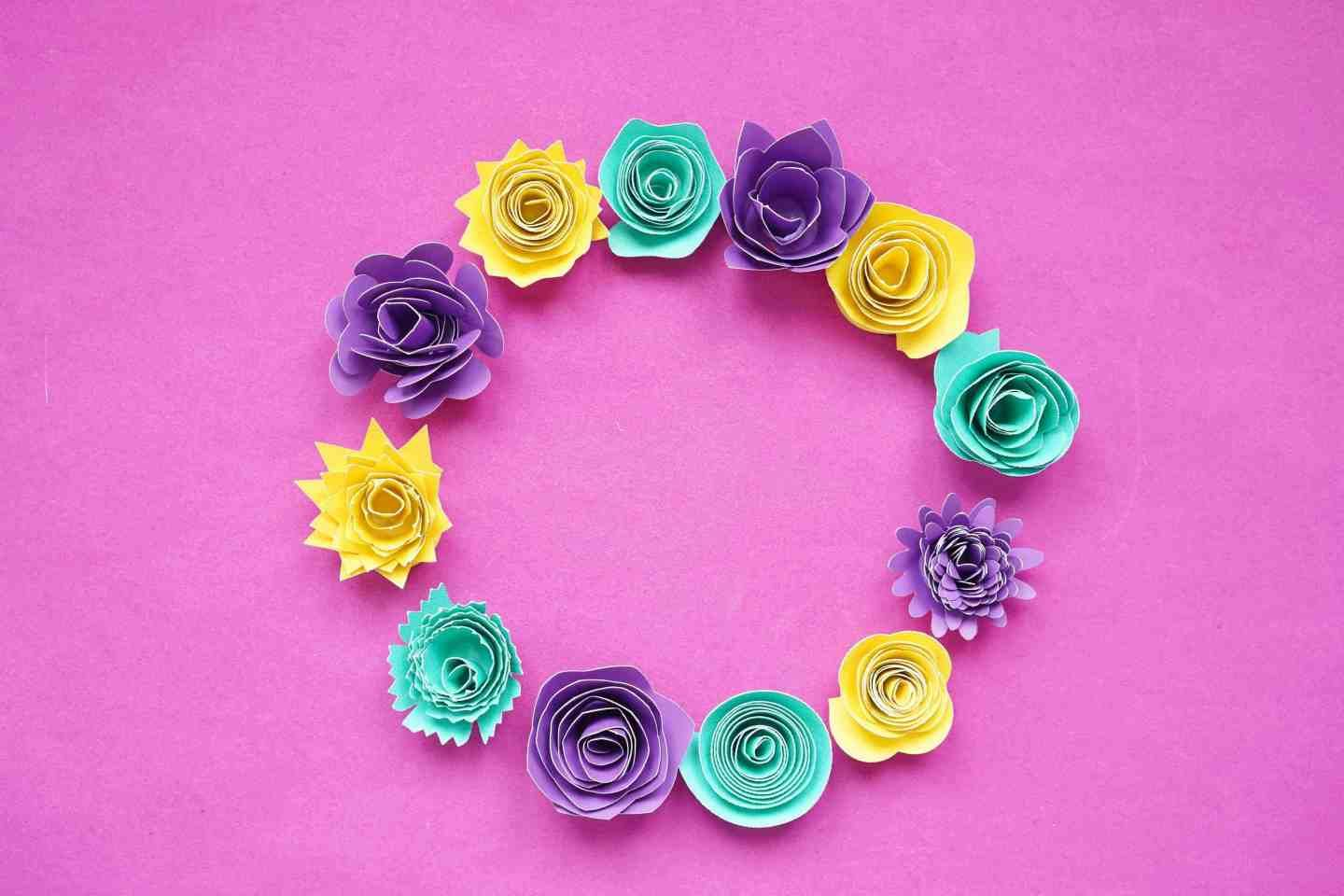 12 Free Rolled Flower Svg Templates Diy 3d Paper Flowers Free