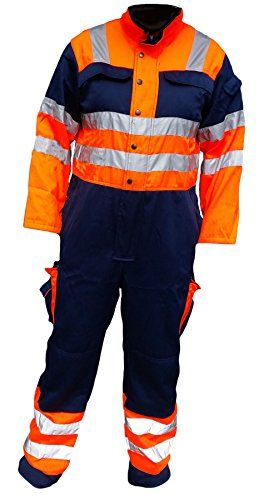 Cheap Hi Vis Overalls High Viz Coveralls Work Wear Recovery Drivers