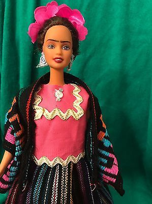 Frida Kahlo Mexican Artist ~ Barbie Doll Handmade Collectors Collectible OOAK