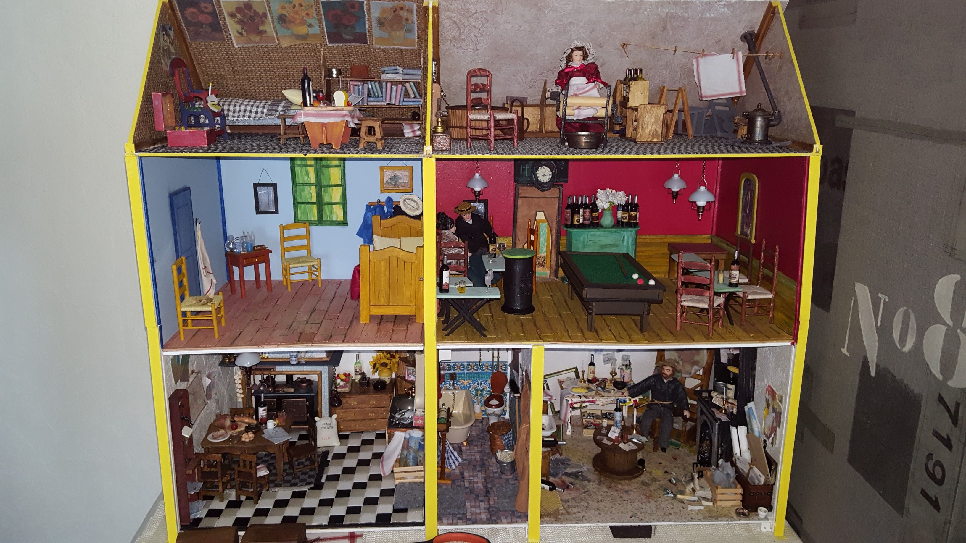 Van Gogh Miniature Dollhouse Doll House Picture