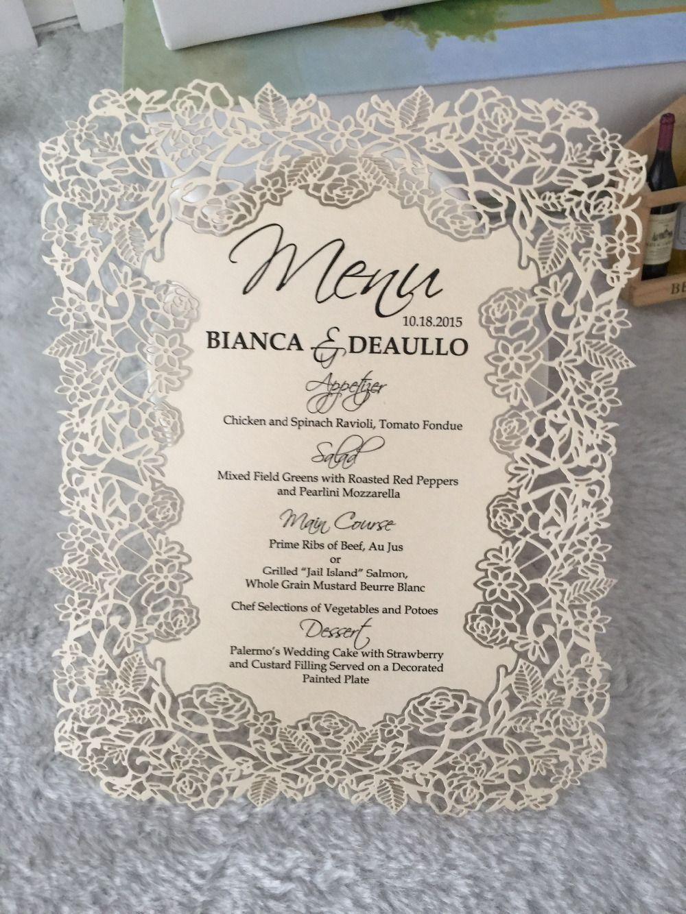 Rosa de encaje europeo de diseño invitación de boda tarjetas con ...
