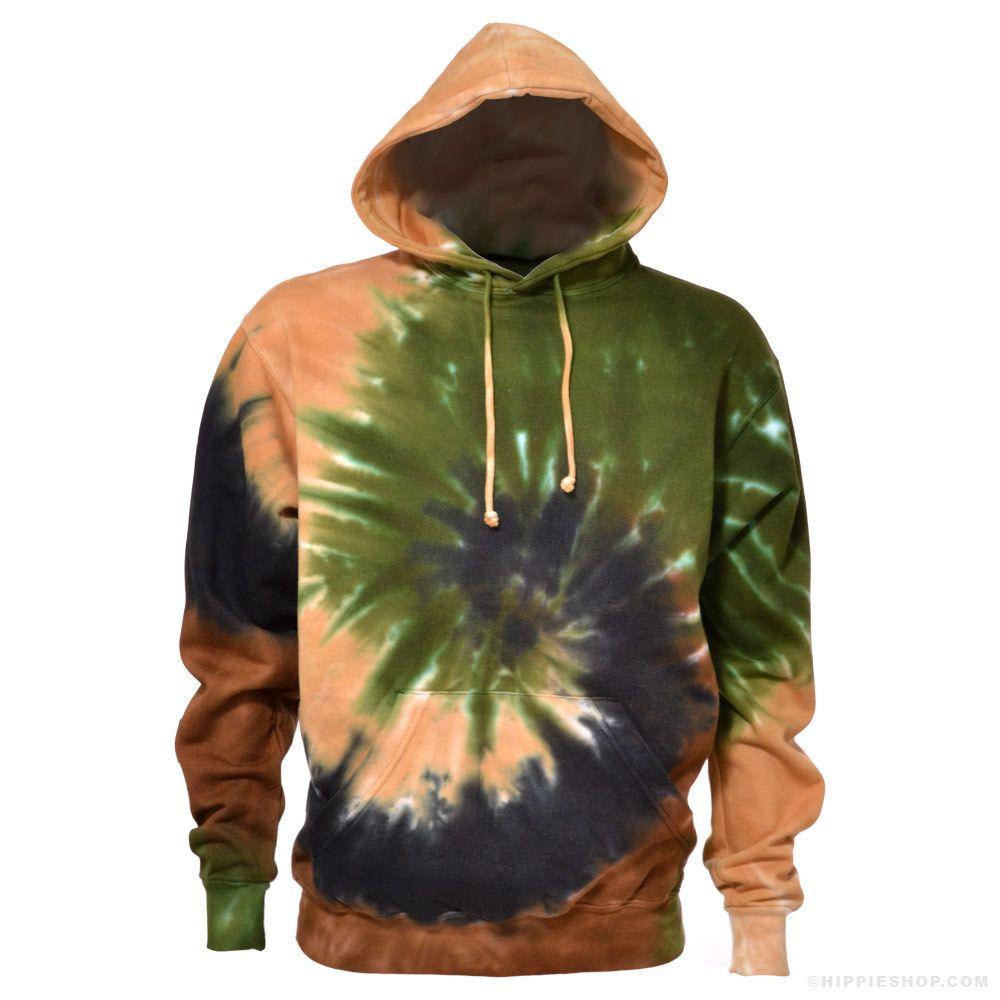 Camo spiral tie dye hoodie hoodies tie dye hoodie