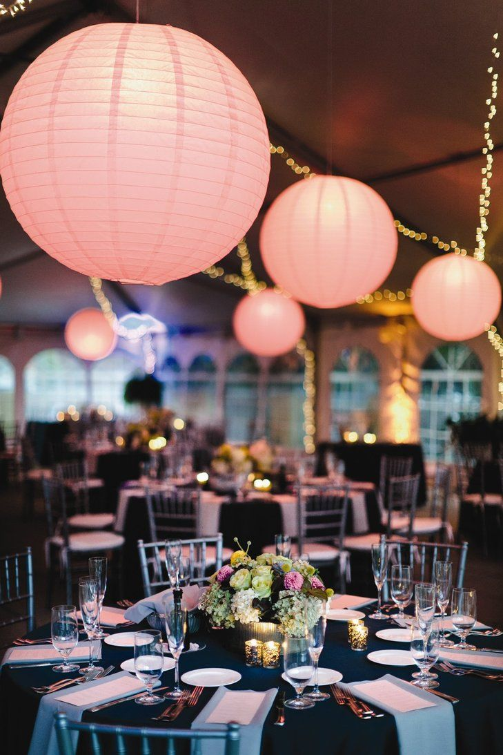 Navy and Silver Reception Decor | All Occasions Party Rental https://www.theknot.com/marketplace/all-occasions-party-rental-pittsburgh-pa-217539 | Joey Kennedy Photography https://www.theknot.com/marketplace/joey-kennedy-photography-pittsburgh-pa-248953